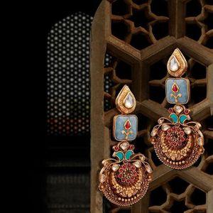 Mehendi meenakari earrings