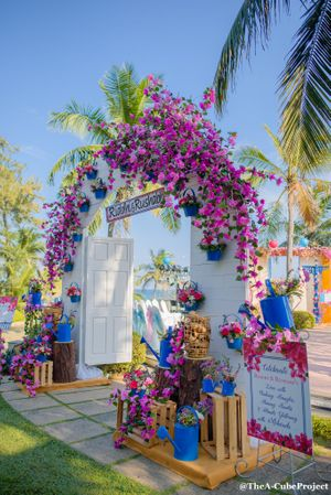 Floral entrance decor for mehendi