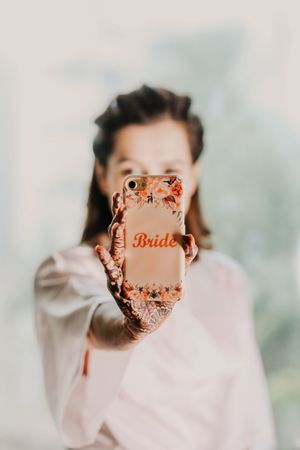 Bride accessory phone cover