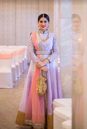 Lavender Anarkali for sangeet or engagement