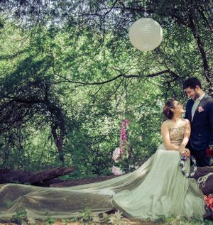 A fairy tale theme pre-wedding shoot