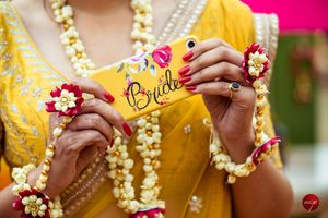 Bride accessory yellow phone cover