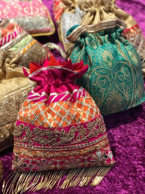 Pretty potlis for sangeet and mehendi function