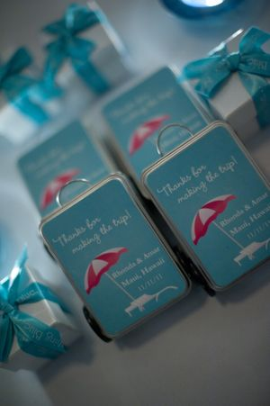 Cute suitcase favors for wedding