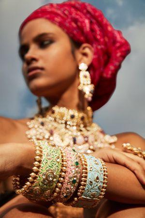 Enamel kadas for mehendi jewellery