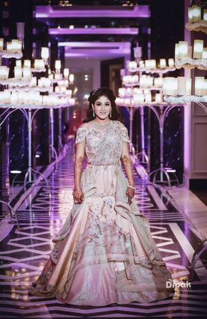 Lehenga gown for sangeet