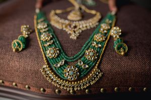 Rani haar with green beads
