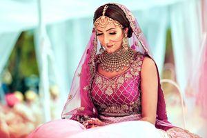 Photo of Magenta bridal lehenga for morning bride