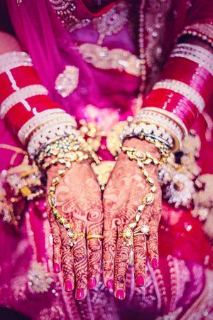 Kundan Hand Harness and Chooda