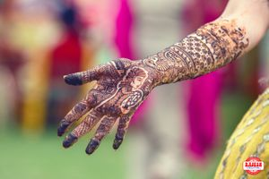 Bridal Hand Mehendi Design - Face Caricature