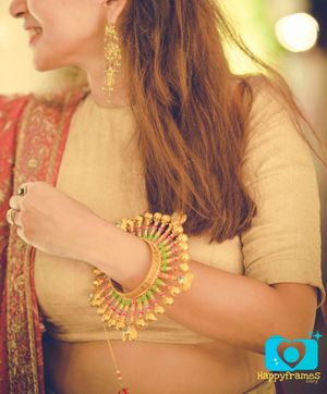 Manish Arora Amrapali Bangles in Green Pink and Gold