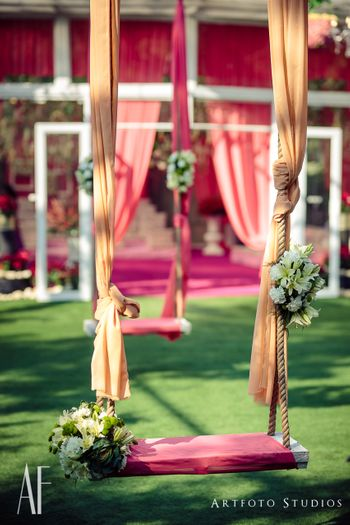 Mehendi swing decor elegant for brunch