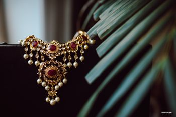 Bridal jewellery photography with rubies