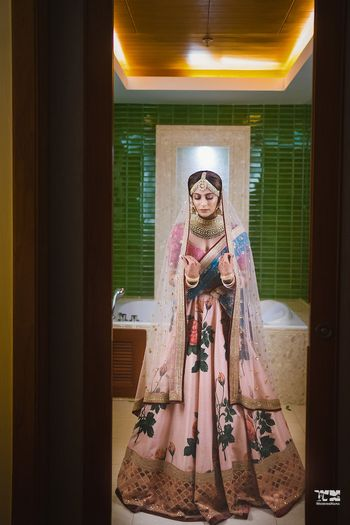 Modern bridal Sabyasachi lehenga