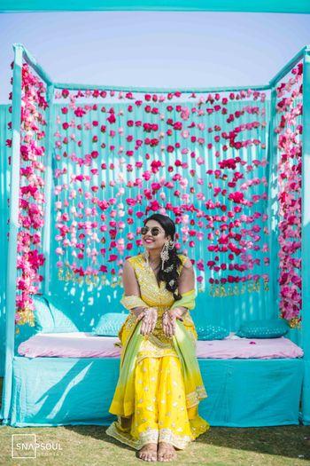 Happy bride showing her mehndi!