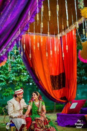 Orange Wedding Decor Photo