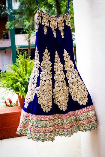 lehenga from CTC plaza navy blue lehenga with gold work