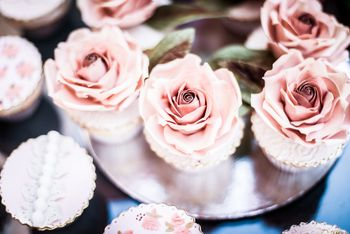 Photo of rosette cupcakes