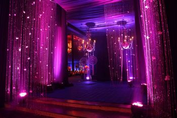 Photo of purple entrance decor