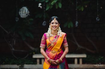 Photo of Classic South Indian bridal portrait