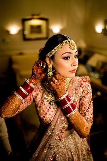 Gorgeous bridal close up