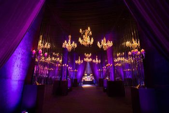 purple and gold decor