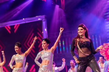 Photo of Jacqueline Fernandes performing at wedding