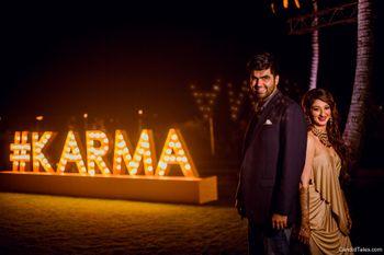 Wedding hashtag personalised decor idea