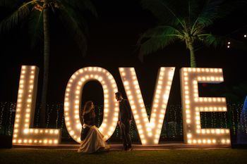 Giant love prop for sangeet or cocktail