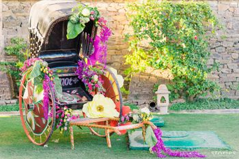 Photo of Quirky rickshaw decor for Mehendi function
