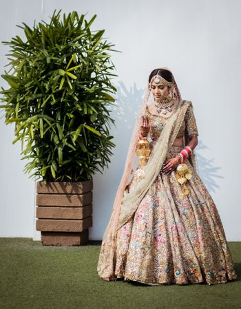 A gorgeously offbeat bridal lehenga by Rimple & Harpreet Narula