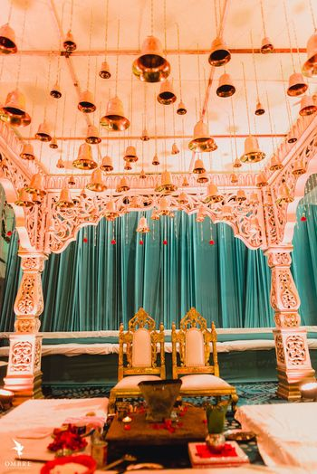 Minimal mandap decor