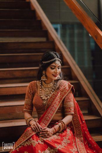 Photo of classic bridal portrait