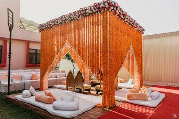 Beautiful marigold mandap decor