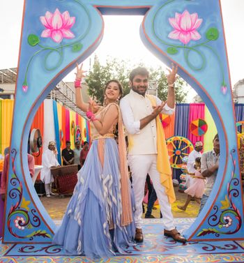 Photo of Bollywood style photobooth for mehendi