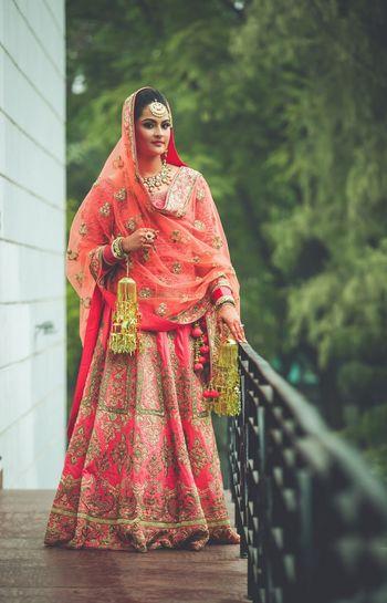 Candy pink bridal lehenga