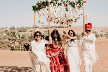 bridal entry surrounded by the desert