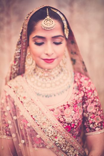Indian bride wearing jewels
