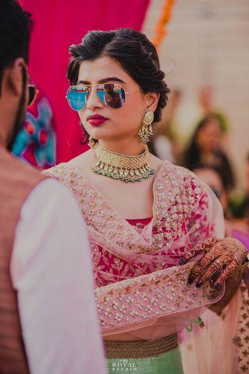 Wedding Photoshoot & Poses Photo bride in reflectors