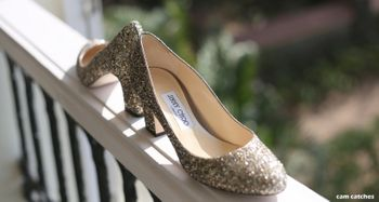 Silver bridal jimmy choos