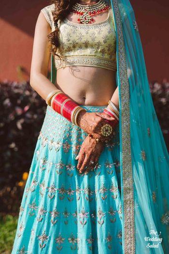 Turquoise Bridal Lehenga Photo turquoise lehenga