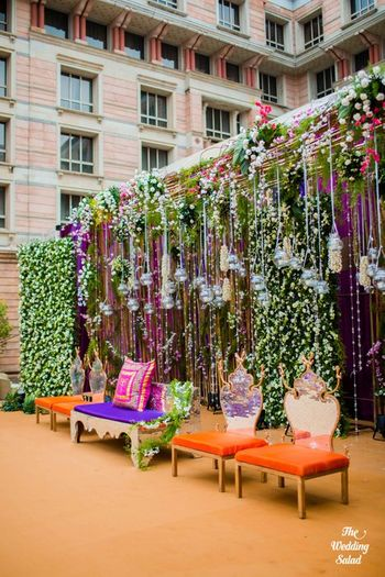 Photo of stage decor for morning wedding