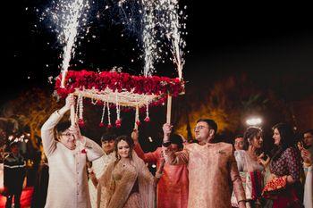 Photo of A unique bridal entry