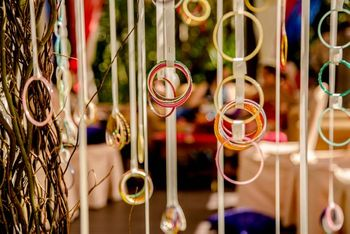 Photo of colourful bangle decor