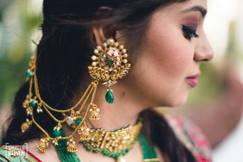 Beautiful bridal waterfall earrings for mehendi