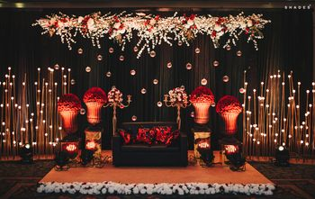 Floral stage decor for the sangeet
