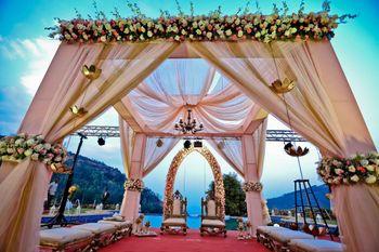 Wedding Decor Photo blush pink mandap