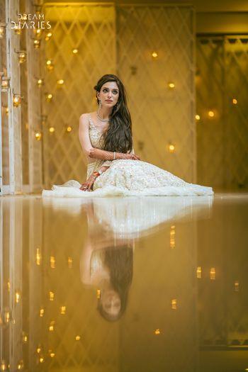 Photo of Reflection shot bridal portrait idea