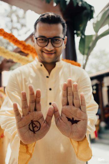 Photo of Mehendi on groom
