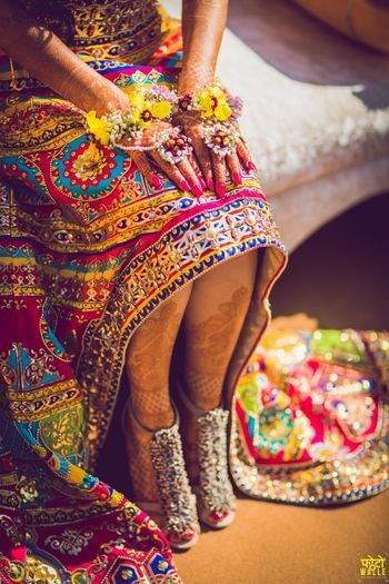 Photo of Unique mehendi jewellery and shoes